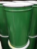40 Gallon / 205 Litre, Steel Drum / Barrel, with Band-Clamp Lid, Stackable, Green