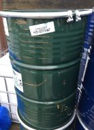 40 Gallon / 205 Litre, Steel Drum / Barrel, with Band-Clamp Lid, Green