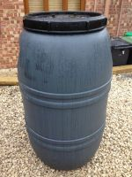 220 Litre Screw Cap HDPE Barrel with Rubber Seal, Colour Grey