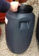 60 Litre Screw Cap HDPE Barrel with Rubber Seal, Grey