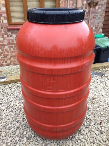 220 Litre, Screw Cap HDPE Barrel with Rubber Seal, Terracotta