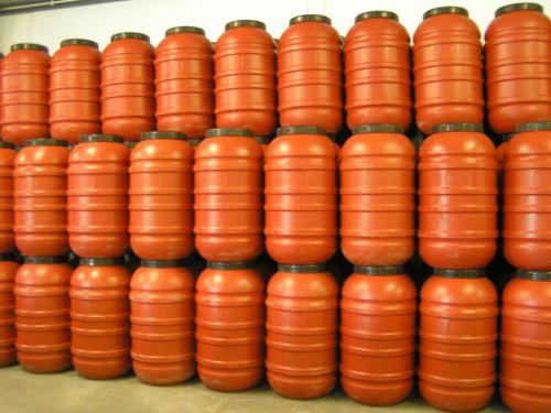 30x 220 Litre, Screw Cap HDPE Barrel with Rubber Seal, Terracotta