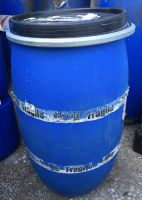 120 Litre, HDPE Drum with Band-Clamp Lid, Blue