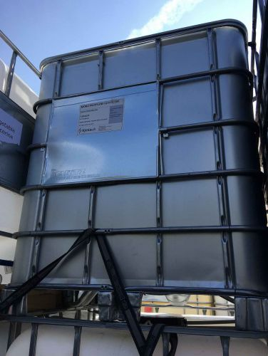 1000 Litre, Clear HDPE, IBC Bulk Container, Metal-Shielded, Square Bars, Metal Base
