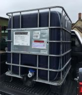 1000 Litre, DARK HDPE, IBC Bulk Container, Square Bars, Plastic Base