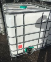 "1000 Litre, Clear HDPE, IBC Bulk Container, Square Bars, Plastic Base (4"" TAP)"