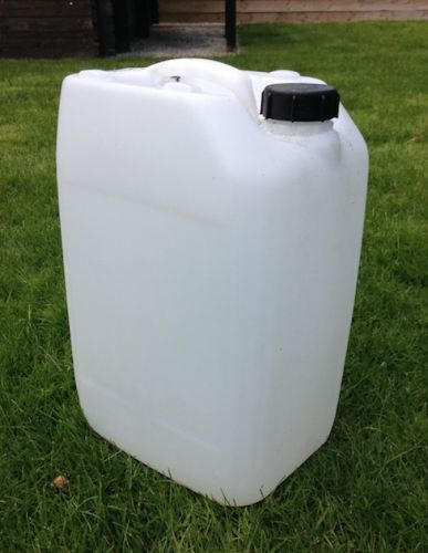20 Litre, HDPE, Screw Cap Jerrycan, Clear