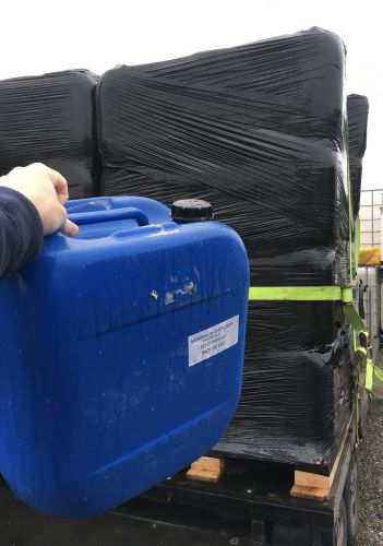 30 Litre, HDPE, Screw Cap Jerrycan, Blue, USED, PALLET OF 36