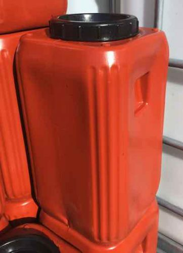 20 Litre, Wide-Mouth Screw Cap HDPE Keg with Rubber Seal, Terracotta